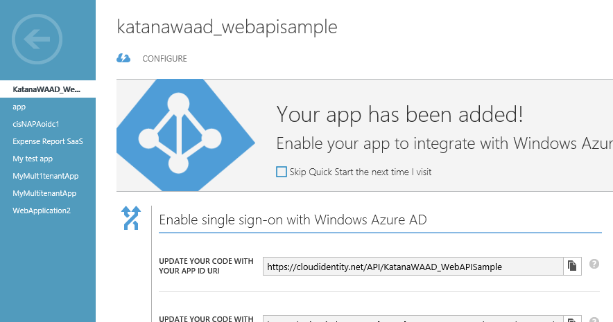 Securing a Web API with Windows Azure AD and Katana