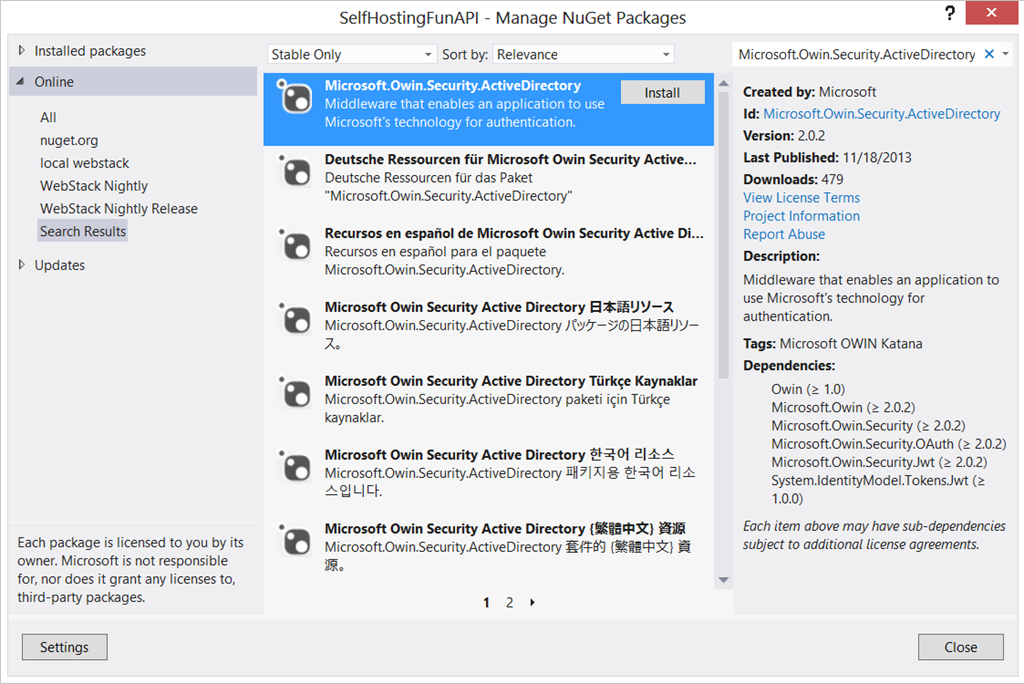 Protecting a Self-Hosted API with Microsoft.Owin.Security ...