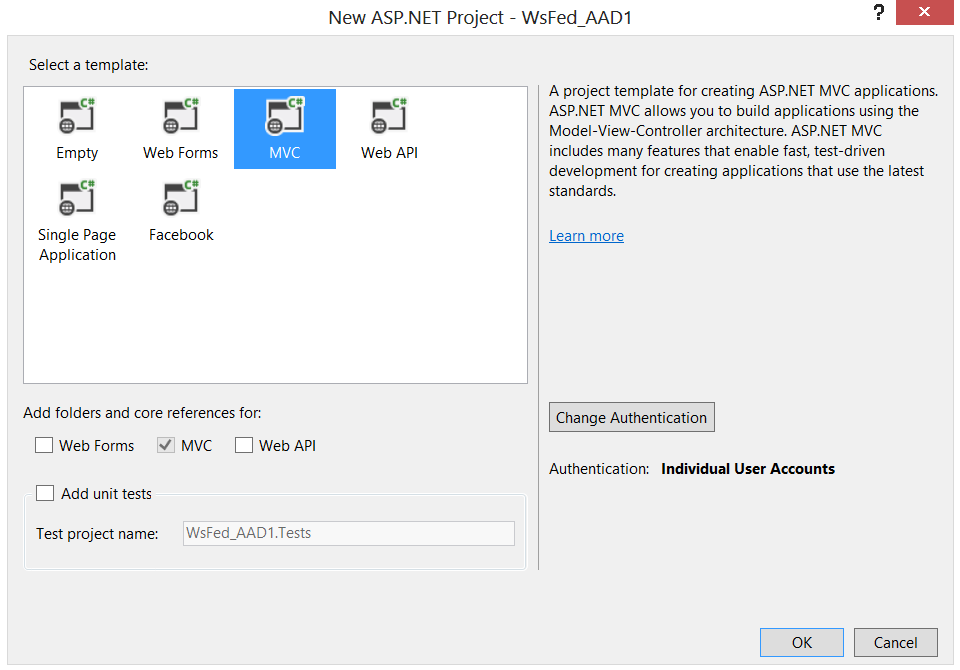 WS-Federation in Microsoft OWIN Components–a quick start