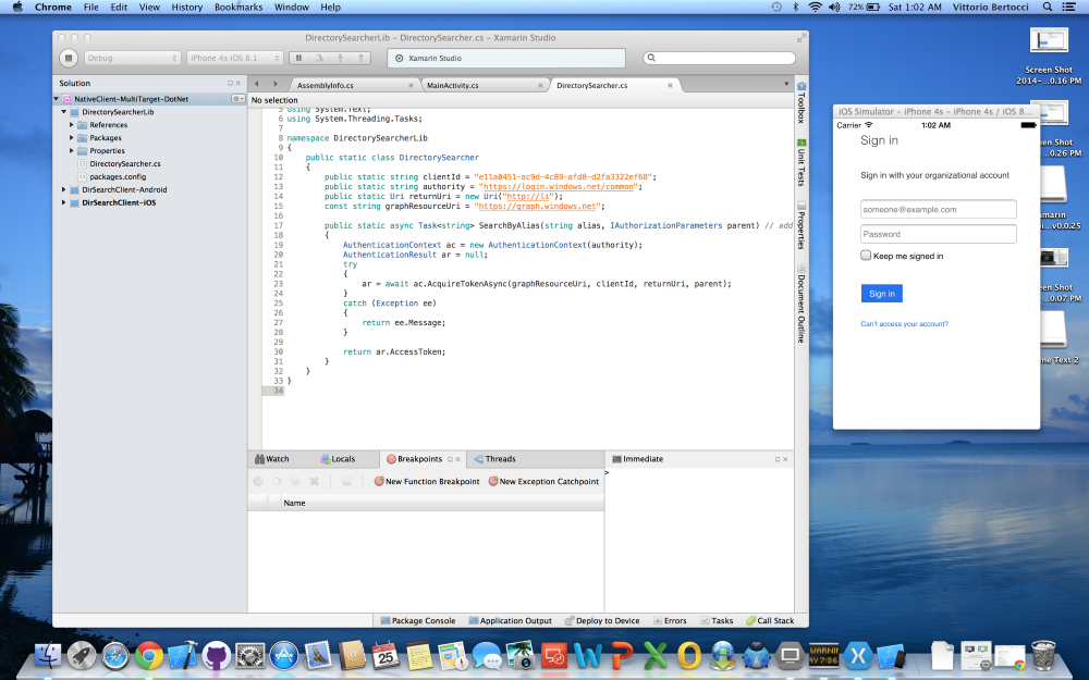 ADAL  NET v3 Preview: PCL, Xamarin iOS and Android Support