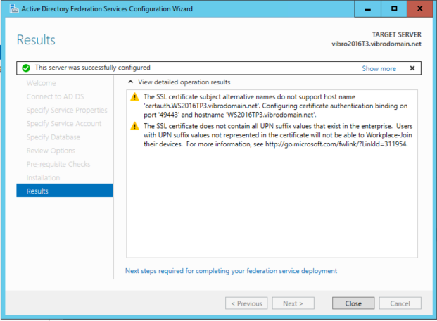 OpenId Connect Web Sign On with ADFS in Windows Server 2016
