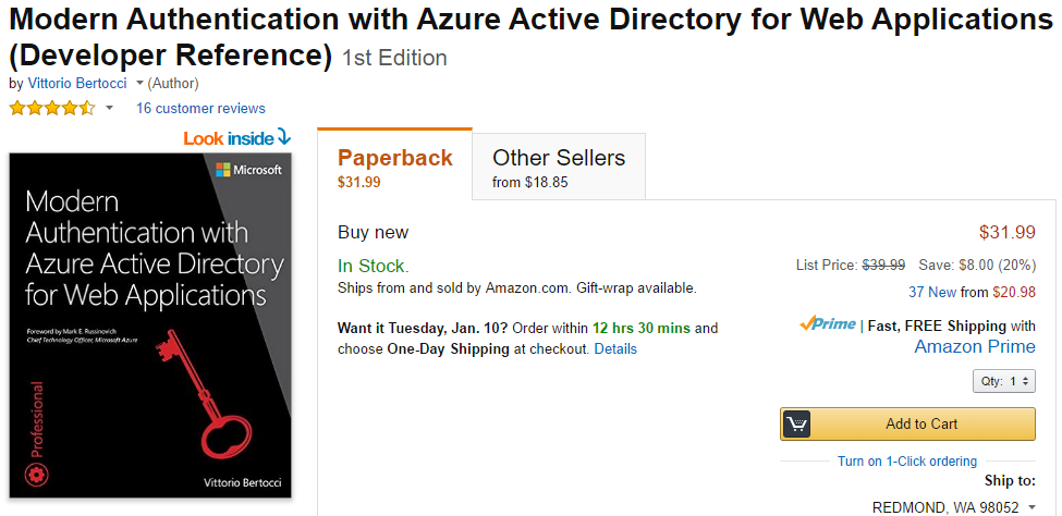 """One year since """"Modern Authentication with Azure Active Directory"""